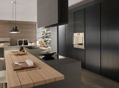 contemporary with wood