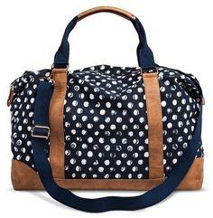 Merona® Women's Polka Dot Weekender Handbag - Navy