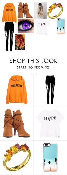 """""""Belle's Modern Day Outfit"""" by lizzie12304 on Polyvore featuring H&M, WithChic, Schutz, MANGO, Daou, Casetify and modern"""