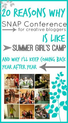 Why SNAP blog conference (for creative bloggers) is like Girl's Camp, and why I'll keep coming back! ~ Sugar Bee Crafts