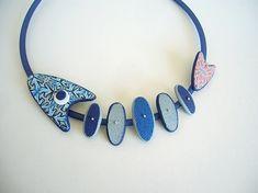 canes inspiration: bleu corail collier poisson