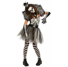 9-Piece Dancing Skeleton Halloween Costume.