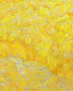 "Detail of ""Wheatfield With a Reaper"" by Vincent Van Gogh"