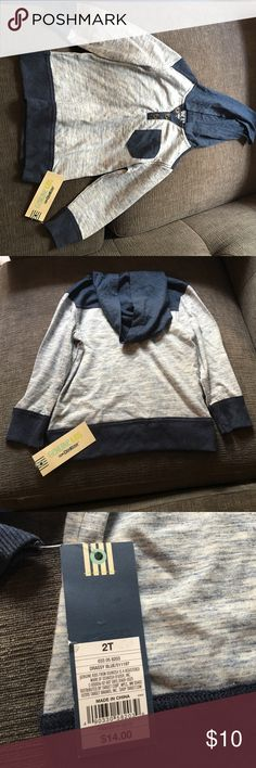 Toddler Boy's Pullover Navy/light blue hooded boys pullover from Osh Kosh. NWT Osh Kosh Shirts & Tops Sweatshirts & Hoodies