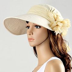 Kvinder Folding Spring Summer Sun Beach Hat – DKK kr. 68everywhere Promotion-Joy Richard Preuss