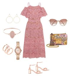 """""""Summer outfit"""" by nino-machabeli on Polyvore featuring Elie Saab, Casadei, Cutler and Gross, Gucci, Michael Kors and Natasha Schweitzer"""