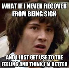 Have you ever noticed how illness follows a very predictable pattern? No? Just wait until you scroll through these funny photos of what it's like to be sick! Because we all understand the inevitable beginning, middle, and thank-God-it's-over stages of sickness, and they go a little something ...