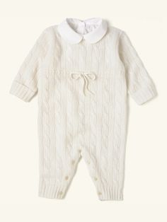 Cabled Cashmere Coverall - Layette One-Pieces - RalphLauren.com