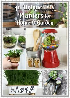 40 unique diy planters for home u0026 garden