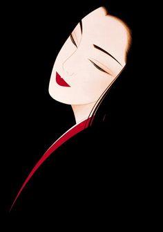 Ichiro Tsuruta is a Japanese visual artist, was born in 1954 in the city of Hondo in Kumamoto Prefecture, Ichiro Tsuruta grew up in Kyushu's Amakusa Region, Japan. Art Geisha, Geisha Kunst, Geisha Drawing, Figurative Kunst, Art Chinois, Art Asiatique, Poses References, Japanese Painting, Japan Art