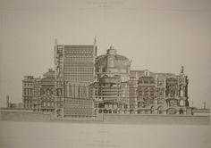 Coupe longitudinale de l'Opéra