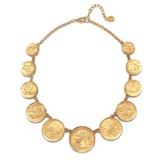 Station Coin Necklace by Ben-Amun   Charm & Chain