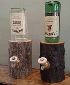 The Liquor Log Dispenses Your Booze Through An Actual Log