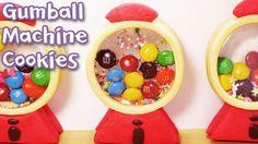 데구르르@@ 풍선껌 머신 쿠키 만들기 ! ガムのガチャクッキー!! How to make Gumball machine cookie...