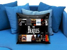 Beatles Pillow case #pillowcase #pillow #cover #pillowcover #printed #modernpillowcase #decorative #throwpillowcase