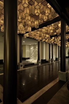 Very cool ceiling made from lanterns  #amazing #ceiling #design
