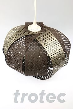 Laser cut paper ceiling lamp - Free DIY instructions with recommended laser parameters for your Trotec laser. Trotec Laser, Ceiling Lamp, Ceiling Lights, Laser Cut Lamps, Laser Cut Paper, Laser Machine, Led Lamp, Laser Cutting, Diy Gifts