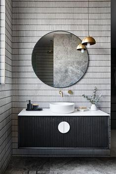 White Bathroom, Bathroom Interior, Concrete Bathroom, Concrete Sink, White Concrete, Monochrome Interior, Interior Design, Washbasin Design, Bathroom Inspiration