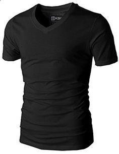 Mens Casual Slim Fit Short Sleeve V-neck T-Shirts BLACK US M/Asia L Go to the website to read more description. Casual Shirts For Men, Men Casual, Smart Casual, Casual Pants, Cool T Shirts, Men's Shirts, Shirt Style, V Neck T Shirt, Mens Fashion