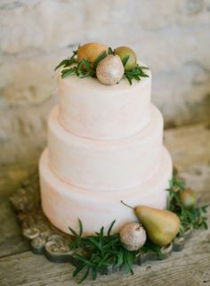 fruit topped wedding cake by http://www.bluenotebakery.com | Photography by carolinejoy.com |  Design + Styling by mayhardesign.com |  Read more - http://www.stylemepretty.com/2013/06/24/hill-country-watercolor-inspired-photo-shoot-from-mayhar-design-caroline-joy-photography-sprout/