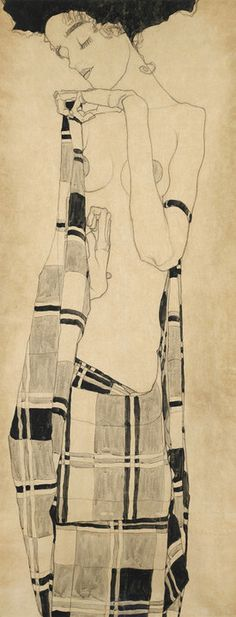 Standing Girl by Egon Schiele