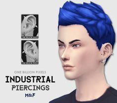 One Billion Pixels: Industrial Piercings by One Billion Pixels • Sims 4 Downloads
