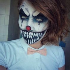 Scary clown makeup idea