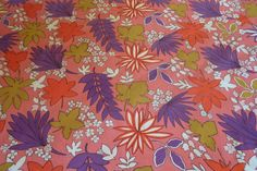 Vintage Retro Tablecloth With Pink Purple by wemixandmatchvintage, $6.00