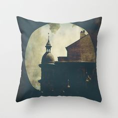When the clouds look like treasure maps and the roofs like dungeons Throw Pillow by g a b r i e l l e s w i n d l e h u r s  - $20.00