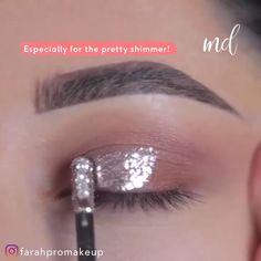 Pink Eye Makeup, Makeup Eye Looks, Eye Makeup Steps, Glitter Makeup, Contour Makeup, Eyeshadow Makeup, Eyeliner, Makeup Eyes, Maquillage Yeux Cut Crease