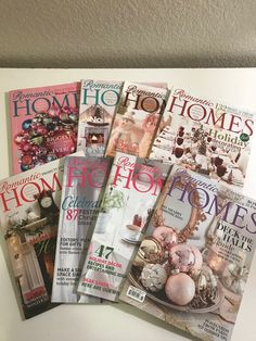 8 Romantic Homes Christmas Issues Free Priority Shipping !!!  | eBay