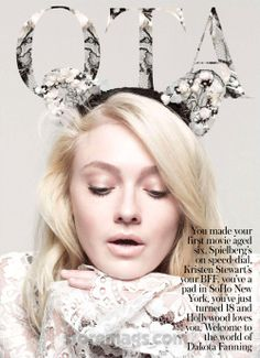 Dakota Fanning by Karen Collins for InStyle UK December 2012