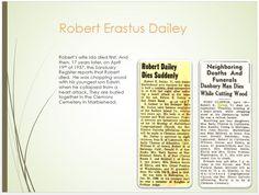 Dailey Family Tree - page 30 Robert Erastus Dailey Death