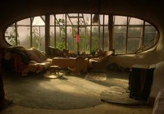 eclectic living room by Simon Dale. Hobbit Houses.