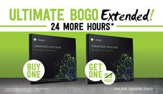 BOGO has been extended for 24 more hours.  Don't miss this great deal.  Text or msg me 240-764-9478.