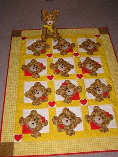 Pinterest Baby Quilt | Teddy bear baby quilt | My Quilts