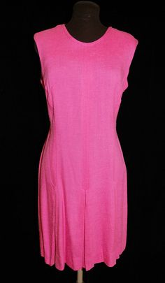 Vintage 1960's Pink Sheath Shift Dress Size by CicelysCloset