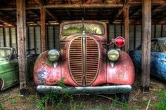 Old trucks have so much character!