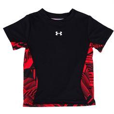Under Armour® Boys 4-7 HeatGear® Geo Print Performance Tee #VonMaur #UnderArmour #Black #Red