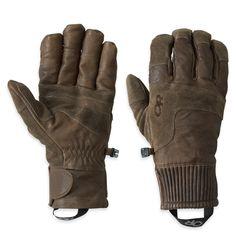 Men's Rivet Gloves™ | Outdoor Research: Die Rivet Gloves aus komplett gewachstem Leder sind robuste Arbeitshandschuhe, die wir mit leichter, warmer und wasserabweisender EnduraLoft™-Isolierung an Handrücken und Handflächen ausgestattet haben. Der Trikotstoff innen fühlt sich weich und angenehm auf der Haut an und die Wildlederaufsätze machen die Handschuhe noch robuster.