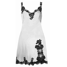 Agent Provocateur Gulia Short Slip Ivory/Black - (1,685 BAM) ❤ liked on Polyvore featuring intimates, ivory, nightwear, short slip, ivory slip and agent provocateur