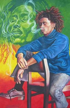 don't worry about a thing. Reggae Rasta, Rasta Art, Reggae Music, Bob Marley Painting, Bob Marley Art, Arte Do Hip Hop, Hip Hop Art, Reggae Style, Damian Marley