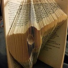 Book Folding Pattern - Heart + Free Instructions - Great for beginners Tips And Tricks, Book Folding Patterns Free, Old Book Crafts, Guitar Books, Heart Outline, Bike Rider, Easy, Love Heart, Create Your Own