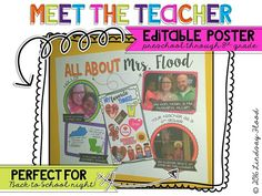 Meet the Teacher Poster - Editable