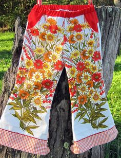 awesome kid pants from vintage print.