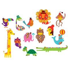 Cool Tattly temporary tattoos by Amy Blay. This Menagerie set includes 13 super cute and very bright tattoos of animals . Tattly Tattoos, Temp Tattoo, Tattoo Set, Cute Characters, Animal Tattoos, Cute Illustration, Kids Playing, Illustrators, Character Design