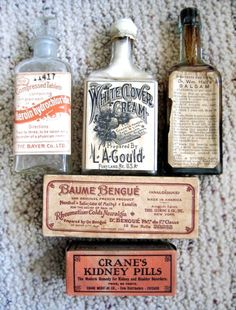 Vintage Pharmacy Bottles-i love antiques but i especially love antique bottles and these are lovely