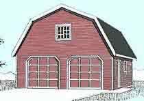 Gambrel Roof Garage Plans By Behm Design