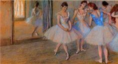 Dancers in a Studio - Edgar Degas