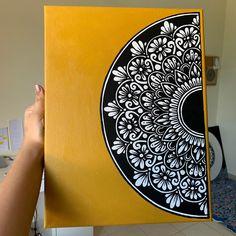 Doodle Art Designs, Art Drawings Simple, Mandala Art, Hand Art Drawing, Madhubani Art, Mandala, Art, Canvas Art, Mandala Art Therapy